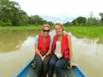 Alison and me getting ready to enter the jungle!